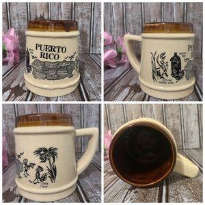 Other - Vintage Puerto Rico Ceramic Coffee Mug